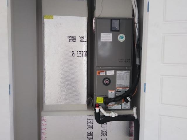 Custom air conditioner installation.