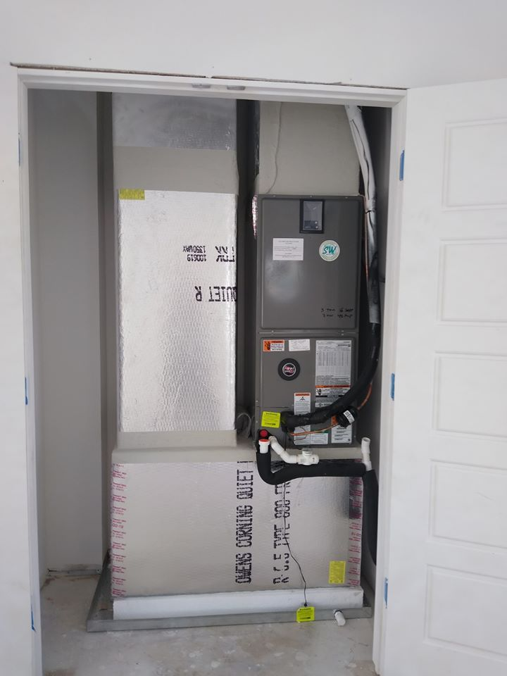 Custom air conditioner installation.