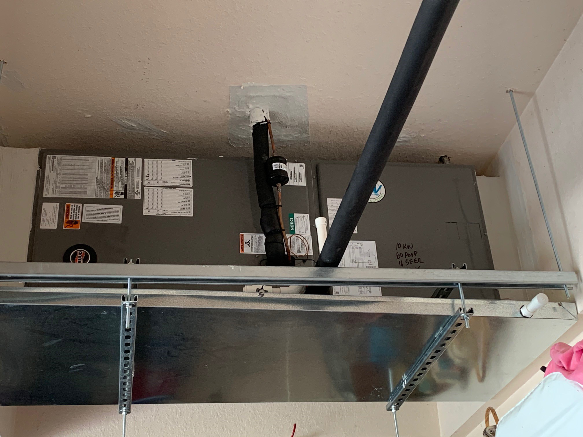 Cape Coral, Fl air handler custom garage installation.