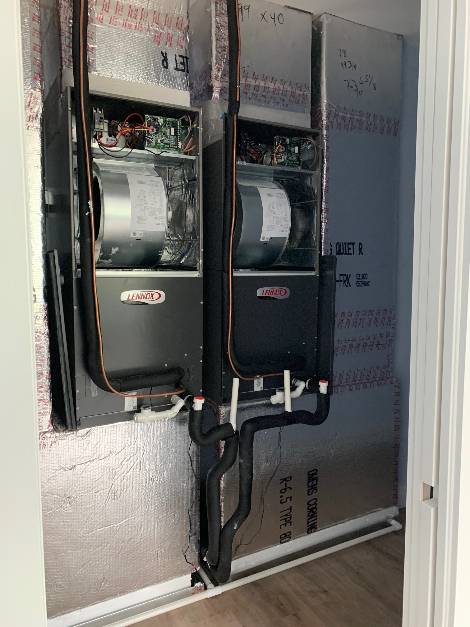 Dual Lennox ac air handlers Fort Myers.
