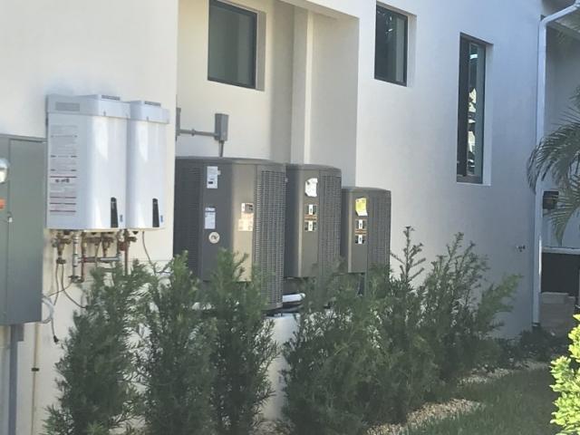 Three air conditoner units replacement.