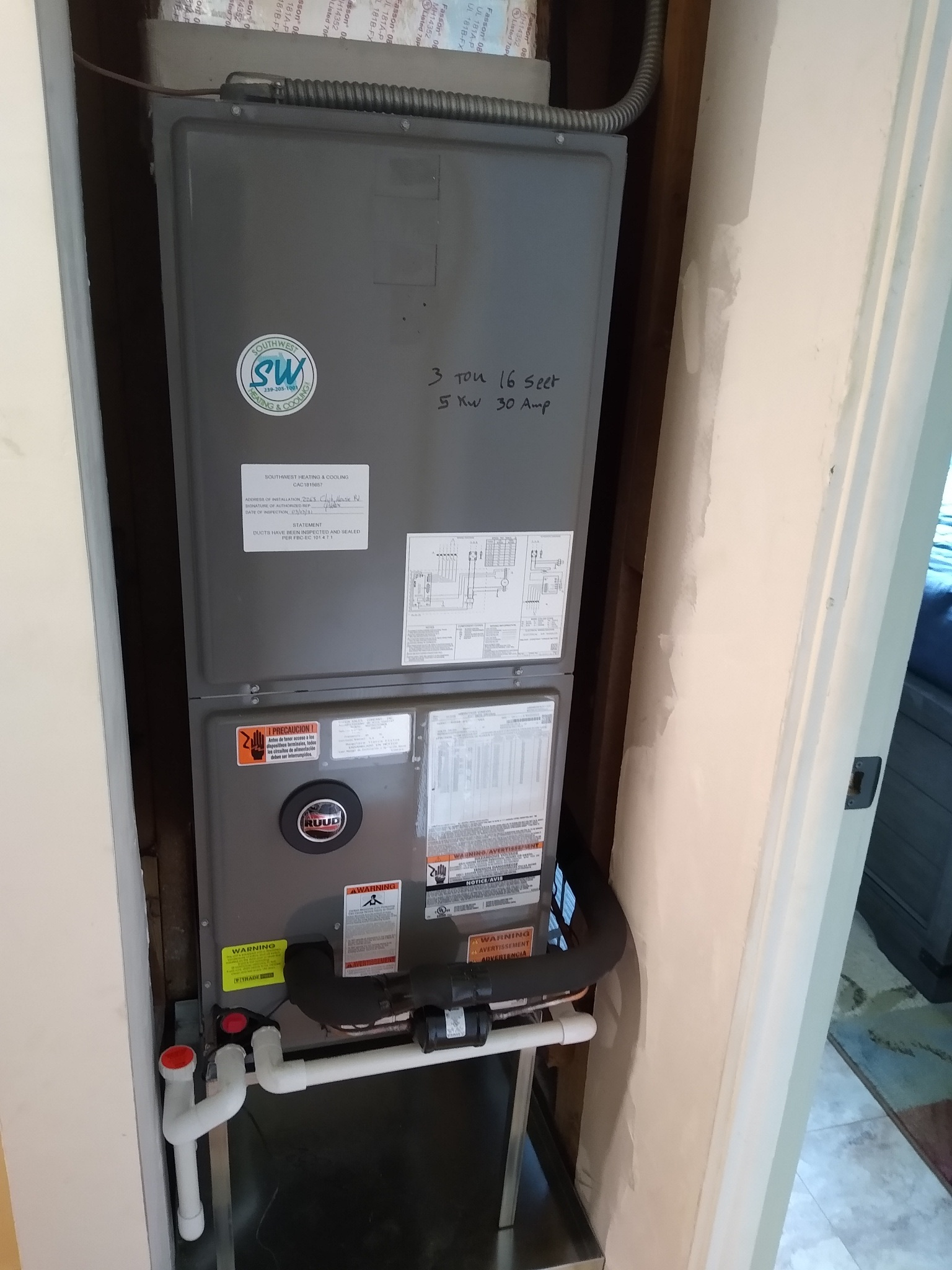 Cape Coral AC replacement air handler